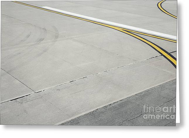 Airport Tarmac Greeting Card by Shannon Fagan