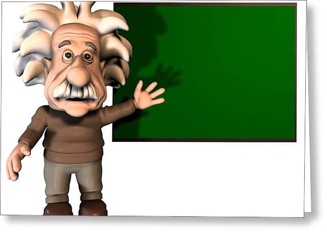 Clever Greeting Cards - Albert Einstein, Artwork Greeting Card by Friedrich Saurer