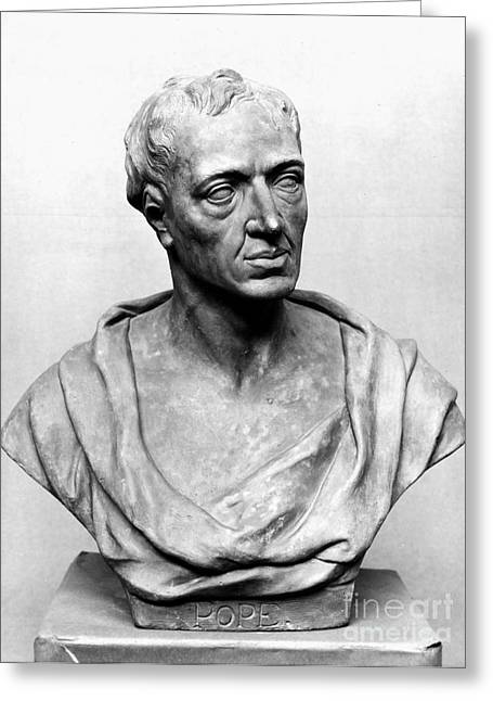 Statue Portrait Photographs Greeting Cards - Alexander Pope (1688-1744) Greeting Card by Granger