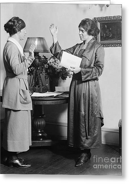 Oath Greeting Cards - Alice Paul (1885-1977) Greeting Card by Granger
