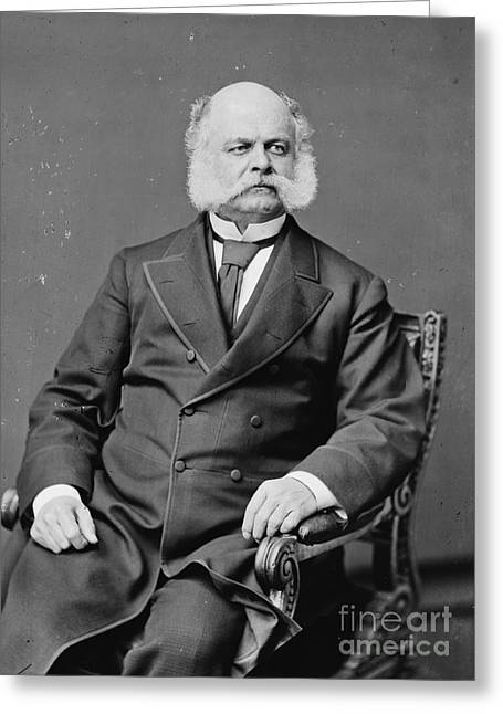 Federal Troops Greeting Cards - Ambrose Burnside, Union General Greeting Card by Photo Researchers