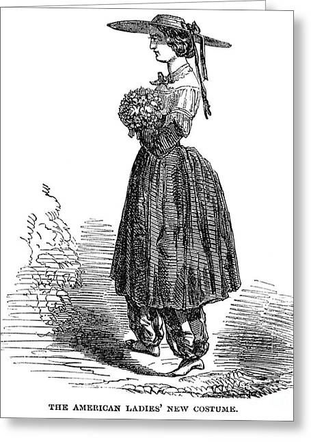 Amelia Bloomer (1818-1894) Greeting Card by Granger