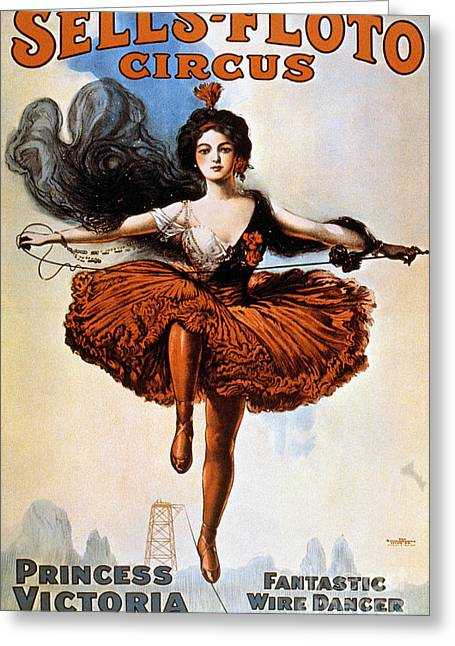 Hosiery Greeting Cards - American Circus Poster Greeting Card by Granger