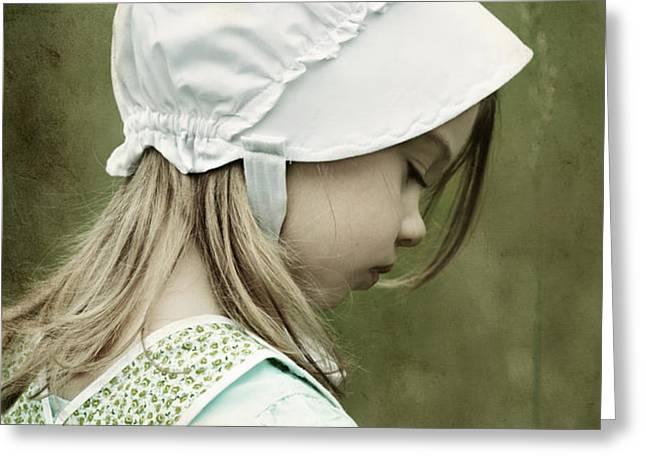 Amish Child Greeting Card by Stephanie Frey