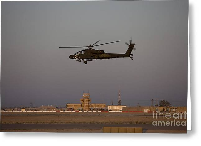 Traffic Control Greeting Cards - An Ah-64d Apache Longbow Block Iii Greeting Card by Terry Moore
