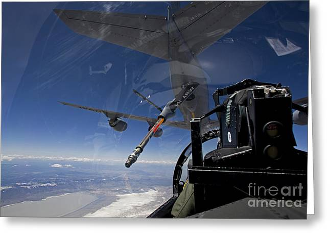 Best Sellers -  - Cooperation Greeting Cards - An F-15 Eagle Pulls Into Position Greeting Card by HIGH-G Productions