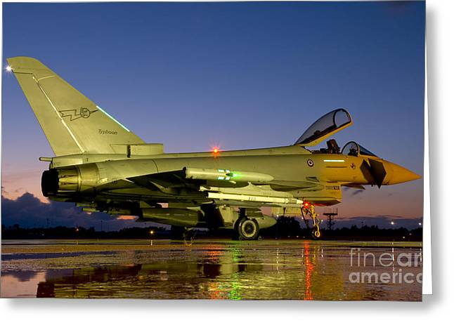Space-plane Greeting Cards - An Italian Air Force Eurofighter Greeting Card by Giovanni Colla