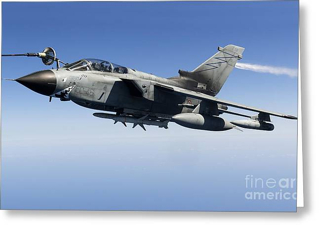 An Italian Air Force Tornado Ids Greeting Card by Gert Kromhout