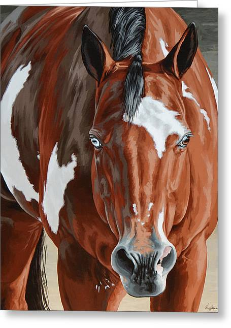 Pinto Greeting Cards - Apollo Greeting Card by Lesley Alexander