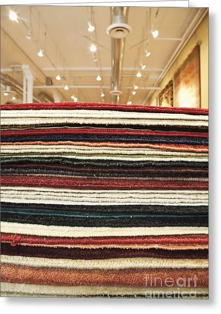 Oriental Rug Greeting Cards - Area Rugs in a Store Greeting Card by Jetta Productions, Inc