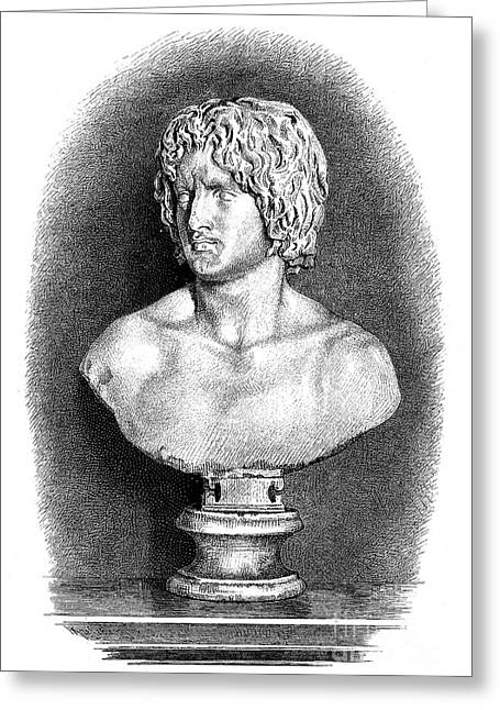 Statue Portrait Greeting Cards - ARMINIUS (c17 B.C.-21 A.D.) Greeting Card by Granger