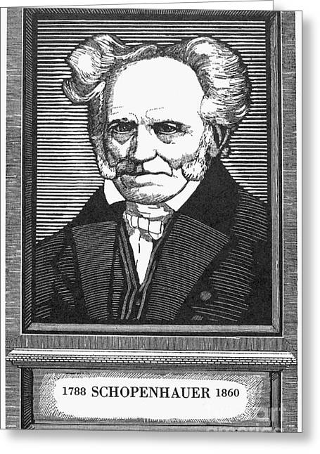Sideburns Greeting Cards - Arthur Schopenhauer Greeting Card by Granger