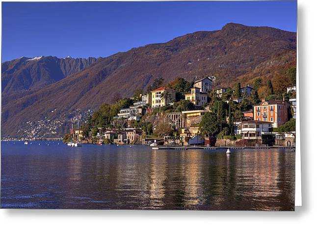 Lago Greeting Cards - Ascona Greeting Card by Joana Kruse