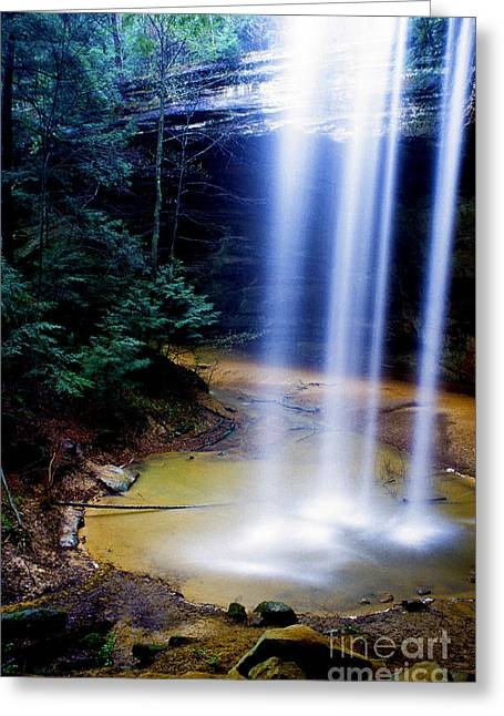 Ash Cave Waterfall Greeting Card by Thomas R Fletcher