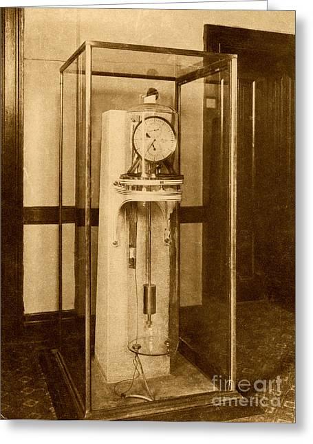 Astronomical Clock Greeting Cards - Astronomical Clock Greeting Card by Science Source