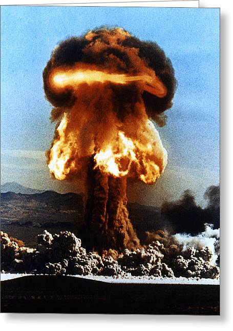 Grable Greeting Cards - Atomic Bomb Explosion Greeting Card by Us Department Of Energy