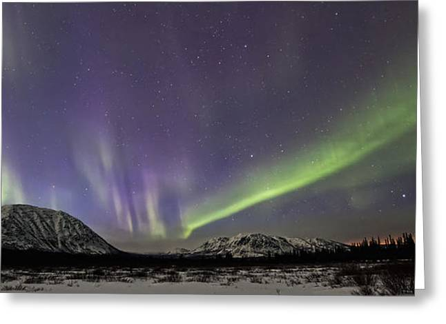 Without Lights Greeting Cards - Aurora Borealis Or Northern Lights Greeting Card by Robert Postma