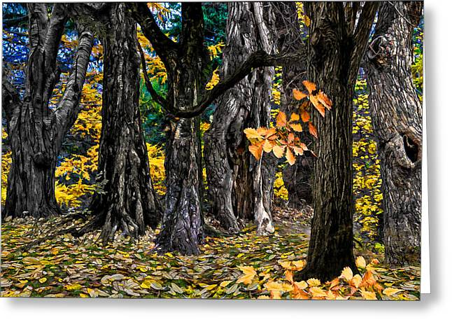 Autumn Landscape Greeting Card by Vladimir Kholostykh
