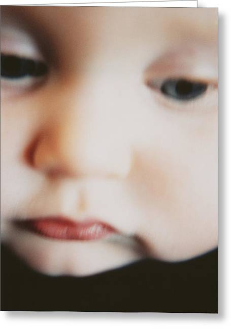 Child Care Greeting Cards - Babys Face Greeting Card by Cristina Pedrazzini
