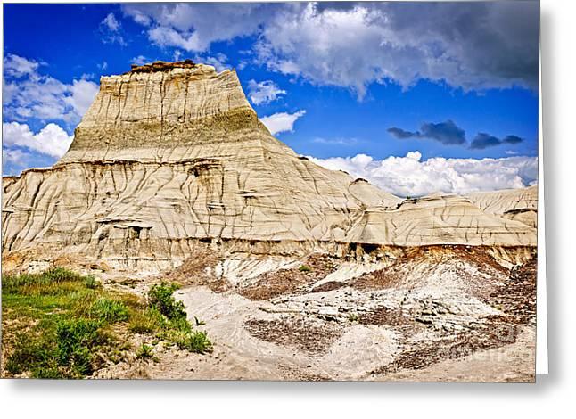 Beautiful Vistas Greeting Cards - Badlands in Alberta Greeting Card by Elena Elisseeva