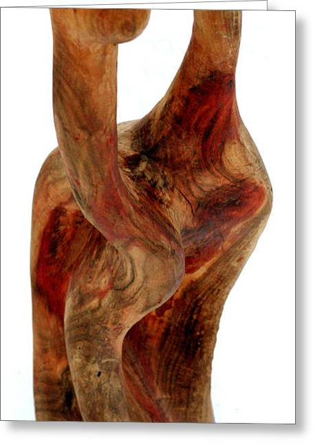 Wood Sculptures Greeting Cards - Bailando 2 Greeting Card by Jorge Berlato