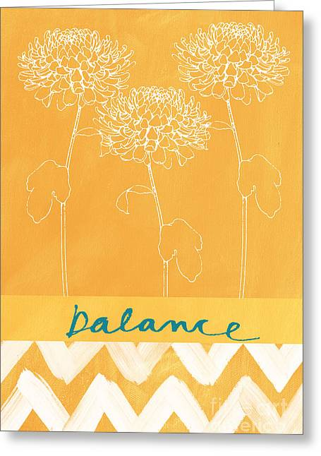 White Florals Greeting Cards - Balance Greeting Card by Linda Woods