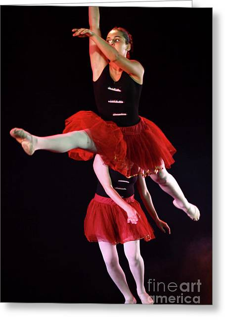 Ballet Dancers Photographs Greeting Cards - Ballet Performance  Greeting Card by Chen Leopold