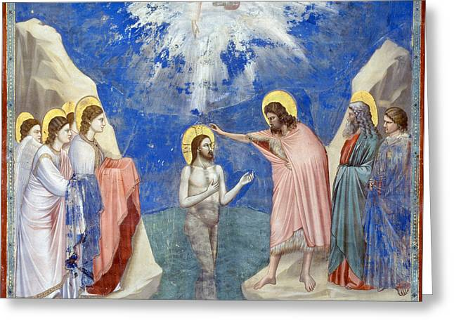 Bondone Greeting Cards - Baptism Of Christ Greeting Card by Granger