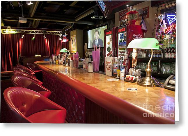 Tallinn Greeting Cards - Bar at an American Style Diner Greeting Card by Jaak Nilson