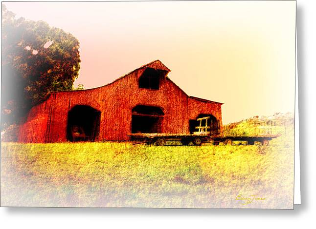 Tennessee Barn Digital Art Greeting Cards - Barn in the Valley Greeting Card by Barry Jones