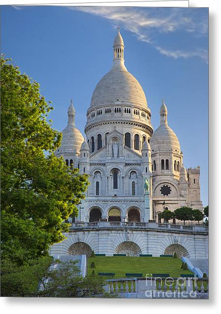 White Marble Greeting Cards - Basilique du Sacre Coeur Greeting Card by Brian Jannsen