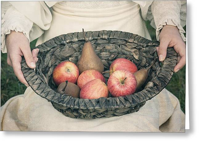 basket with fruits Greeting Card by Joana Kruse