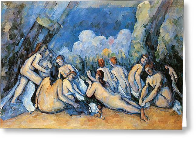 Bathers Greeting Card by Paul Cezanne