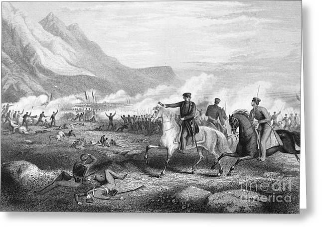 U.s Army Greeting Cards - Battle Of Buena Vista, 1847 Greeting Card by Granger