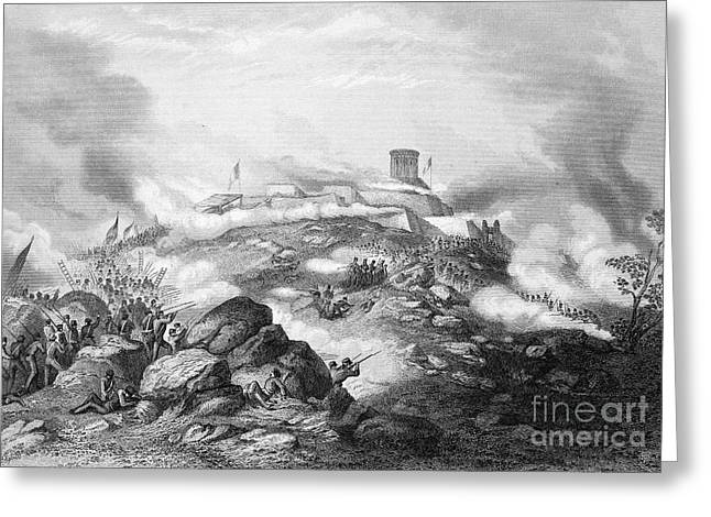 Mexico City Greeting Cards - Battle Of Chapultepec, 1847 Greeting Card by Granger