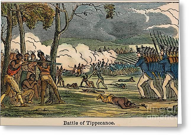 1811 Greeting Cards - Battle Of Tippecanoe, 1811 Greeting Card by Granger