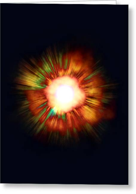 Expanding Light Greeting Cards - Big Bang Greeting Card by Christian Darkin
