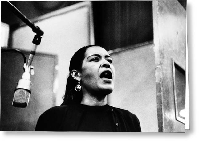 Negroes Photographs Greeting Cards - Billie Holiday (1915-1959) Greeting Card by Granger