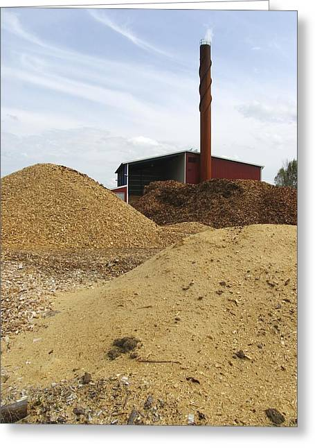 Burning Buildings Greeting Cards - Biomass Power Plant, Sweden Greeting Card by Bjorn Svensson