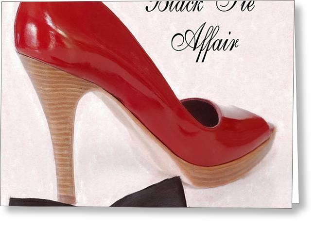Black Tie Affair Greeting Card by Anne Kitzman