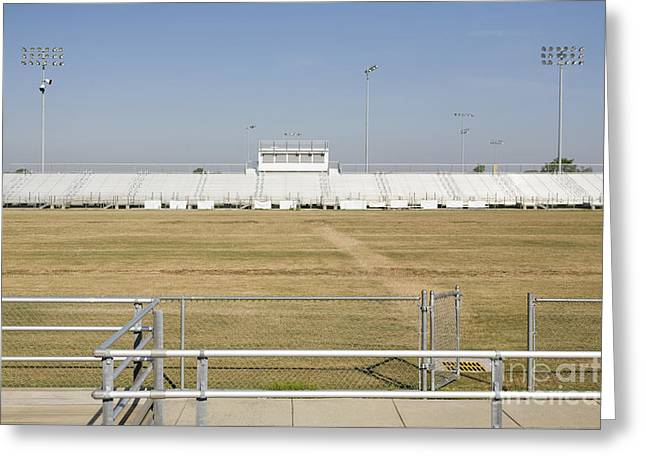 Announcer Greeting Cards - Bleachers Greeting Card by Roberto Westbrook