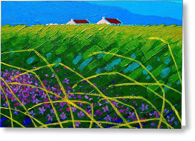 Cards Framed Prints Greeting Cards - Blue Hills  Greeting Card by John  Nolan