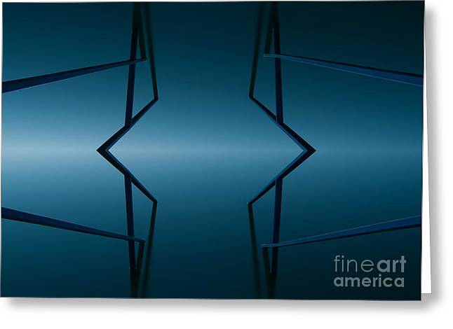 Sweating Digital Art Greeting Cards - Blue reflection Greeting Card by Odon Czintos