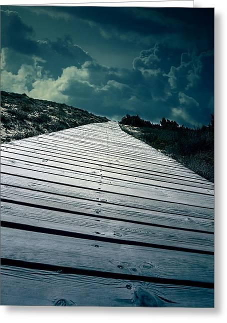 Boardwalk Photographs Greeting Cards - Boardwalk Greeting Card by Joana Kruse