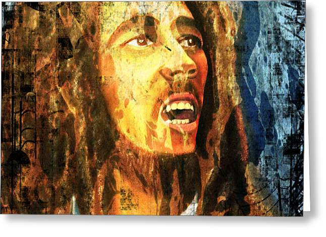 Bob Marley Greeting Card by Biren Biren