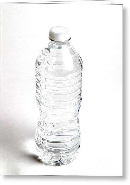 Plastic Bottle Greeting Cards - Bottled Water Greeting Card by Photo Researchers