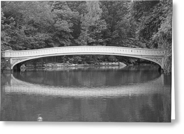 Bow Bridge Greeting Cards - Bow Bridge Central Park Greeting Card by Christopher Kirby
