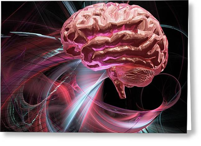 Biomedical Illustrations Greeting Cards - Brain Research, Conceptual Artwork Greeting Card by Laguna Design