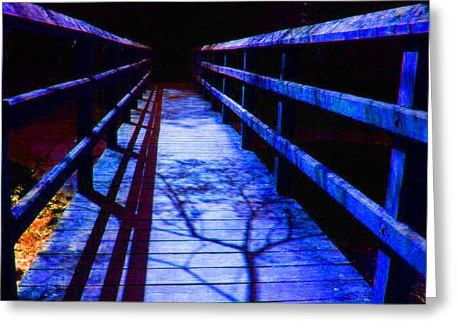 Bridge To Nowhere Greeting Card by Val Oconnor