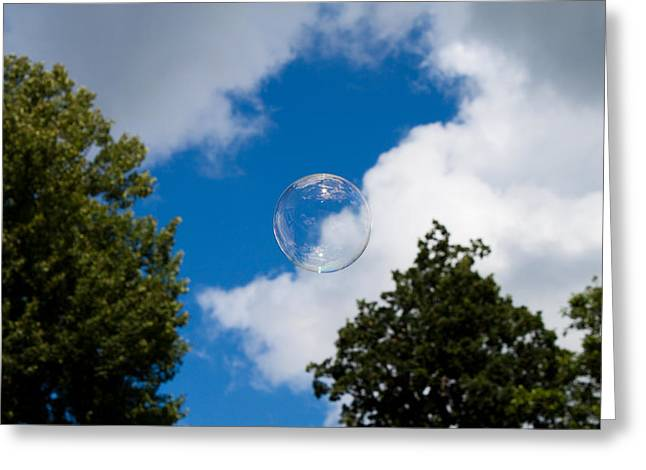 Robert Hellstrom Greeting Cards - Bubble  Greeting Card by Robert Hellstrom